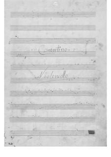 Концертино для виолончели и фортепиано: Партия виолончели by Доменико Лабоччетто