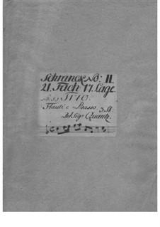 Трио-соната для двух флейт и бассо континуо до мажор, QV 2:Anh.2a: Трио-соната для двух флейт и бассо континуо до мажор by Иоганн Иоахим Квантц