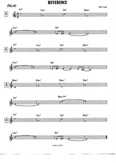 Reverence: Treble clef version by Jared Plane