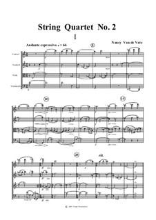 String Quartet No.2a: Партитура by Nancy Van de Vate