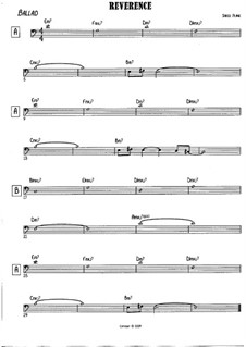 Reverence: Bass clef version by Jared Plane