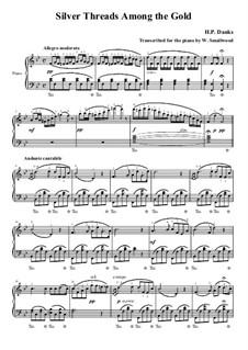 Серебряные нити среди золота: Для фортепиано by Харт Пиз Данкс