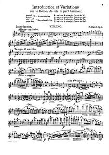 Интродукция и вариации на тему 'Je suis le petit tambour', Op.5: Интродукция и вариации на тему 'Je suis le petit tambour' by Фердинанд Давид