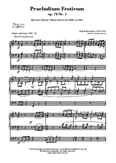 Allein Gott in der Höh' sei Ehr' & Grande Marche, Op.78 No.1: Allein Gott in der Höh' sei Ehr' & Grande Marche by Зигфрид Карг-Элерт, Samuel Brenton Whithney