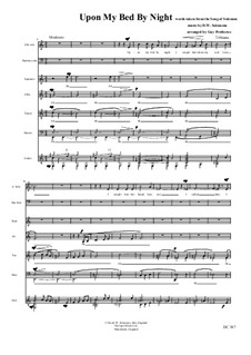 Upon my bed by Night for soloists, choir and guitar: Upon my bed by Night for soloists, choir and guitar by Дэвид Соломонс
