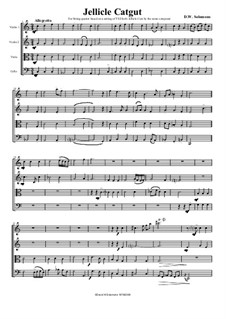 Jellicle Catgut: Для струнного квартета by Дэвид Соломонс
