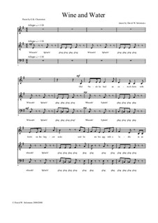 Wine and Water: For choir or small singing group by Дэвид Соломонс