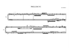 Prelude No.1 for piano, MVWV 81: Prelude No.1 for piano by Maurice Verheul
