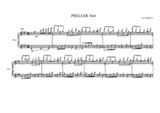 Prelude No.4 for piano, MVWV 84: Prelude No.4 for piano by Maurice Verheul