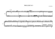 Prelude No.5 for piano, MVWV 85: Prelude No.5 for piano by Maurice Verheul