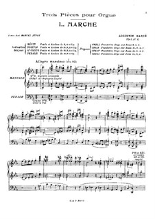 Три пьесы, Op.7: Три пьесы by Огюстен Барье