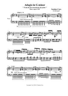 Adagio in G minor for piano, CS011 No.5: Adagio in G minor for piano by Santino Cara