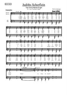 Nr.5: Judiths Scherflein, Op.94: Für Frauenchor by Bernd Gehring