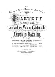 Струнный квартет No.2 ре минор, Op.75: Партии by Антонио Бадзини