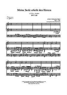 Chorale Preludes II (Schübler Chorales): Meine Seele erhebt den Herren and 'Wo soll ich fliehen hin', BWV 648, 646 by Иоганн Себастьян Бах