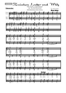 Die 5 Jahreszeiten, Op.102: Nr.5: Zum Karneval, für Männerchor by Bernd Gehring