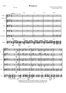 Windows: For string orchestra – score & parts by Gary Edwards