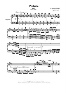 Prelude in D for piano, CS018 No.1: Prelude in D for piano by Santino Cara