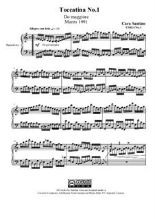 Toccatina No.1 in C major for piano, CS024 No.1: Toccatina No.1 in C major for piano by Santino Cara