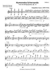 Струнный квартет ля минор, Op.13: Humoreska-Scherzando – Parts by Михаил Ипполитов-Иванов