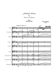 Classical fantasy for Oboe and Orchestra, CS039: Classical fantasy for Oboe and Orchestra by Santino Cara