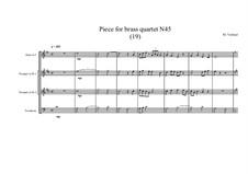 Piece for brass quartet No.45 (19), MVWV 149: Piece for brass quartet No.45 (19) by Maurice Verheul