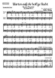 Weihnachtliches: Warten auf die heil'ge Nacht, Op.005 Nr.1: Weihnachtliches: Warten auf die heil'ge Nacht by Volker Gehring