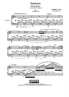 Nocturne in C major for piano, CS054 No.2: Nocturne in C major for piano by Santino Cara