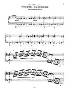Пляска смерти, для фортепиано, S.525: Для одного исполнителя by Франц Лист