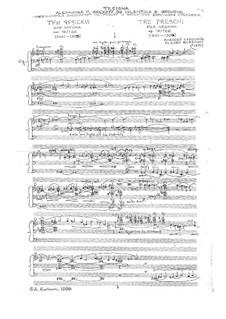 Tre Freschi per Organo, Op.19/126: Tre Freschi per Organo by Alexey Kurbanov