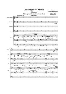 Assumpta est Maria. MABB and organ, CS125 No.1: Assumpta est Maria. MABB and organ by Santino Cara