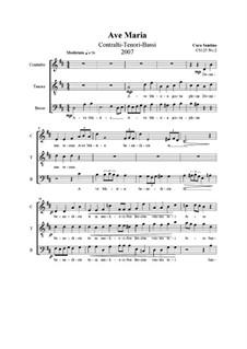 Ave Maria. ATB a cappella, CS125 No.2: Ave Maria. ATB a cappella by Santino Cara