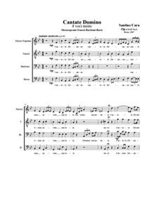 Cantate Domino. MTBB a cappella, CS125 No.3: Cantate Domino. MTBB a cappella by Santino Cara