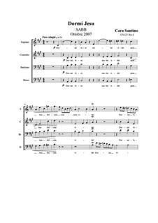 Dormi Jesu. SABB a cappella, CS125 No.4: Dormi Jesu. SABB a cappella by Santino Cara