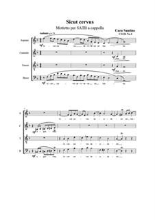 Sicut cervus. Motet for SATB a cappella, CS126 No.4: Sicut cervus. Motet for SATB a cappella by Santino Cara