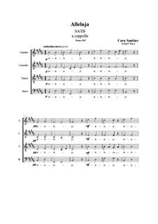Alleluja. SATB a cappella, CS127 No.1: Alleluja. SATB a cappella by Santino Cara