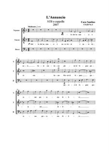 L'Annuncio. STB a cappella, CS128 No.4: L'Annuncio. STB a cappella by Santino Cara