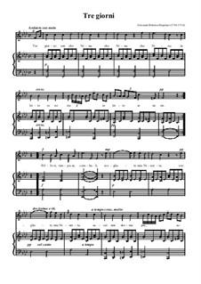 Три дня уже как Нина: Для голоса и фортепиано by Джованни Баттиста Перголези