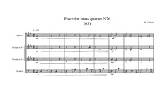 Piece for brass quartet No.77 (63), MVWV 181: Piece for brass quartet No.77 (63) by Maurice Verheul