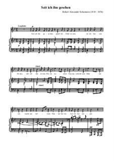 Любовь и жизнь женщины, Op.42: No.1 Since Mine Eyes Beheld Him in B Flat Major by Роберт Шуман