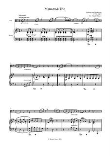 Шесть менуэтов для оркестра, WoO 10: Менуэт No.2. Версия для альта и фортепиано by Людвиг ван Бетховен