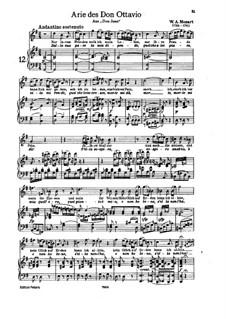 Dalla sua pace: For tenor and piano by Вольфганг Амадей Моцарт