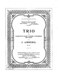 Трио для кларнета (или скрипки), виолончели и фортепиано ми-бемоль мажор, Op.11: Партитура, Партии by Йохан Амберг