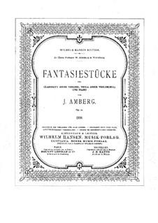 Фантастические пьесы, Op.12: Партитура, Партии by Йохан Амберг