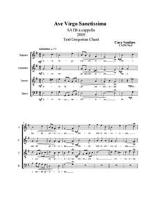 Ave Virgo Sanctissima. SATB a cappella, CS150 No.3: Ave Virgo Sanctissima. SATB a cappella by Santino Cara