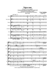 Nigra sum. SSAATTBB a cappella, CS153 No.2: Nigra sum. SSAATTBB a cappella by Santino Cara