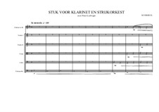 Concertino for Clarinet and Stringorchestra, MVWV 180: Concertino for Clarinet and Stringorchestra by Maurice Verheul