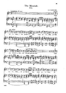No.20 He Shall Feed His Flock : Клавир с вокальной партией by Георг Фридрих Гендель
