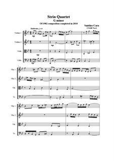 String quartet No.6 in G minor, CS168 No.6: String quartet No.6 in G minor by Santino Cara