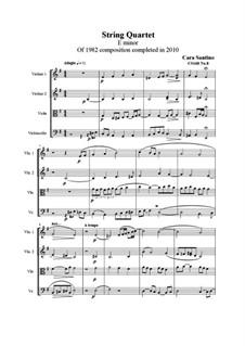 String quartet No.8 in E minor, CS168 No.8: String quartet No.8 in E minor by Santino Cara